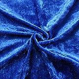 STOFFKONTOR Pannesamt Stoff Meterware Royal-Blau