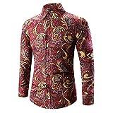 JYJM Hohe Qualität Männer Hawaiihemd 22D Print T-Shirt Sport Langarm Tees Bluse Top Herbst Shirt