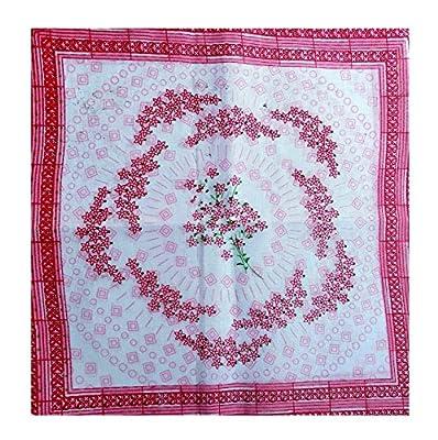 K.S. Collection Flowers Print Face Hanky, 100% Cotton Print Handkerchiefs for Women, Girls, Baby, Multi Design (Size: 12X12 inch_12 Piece)