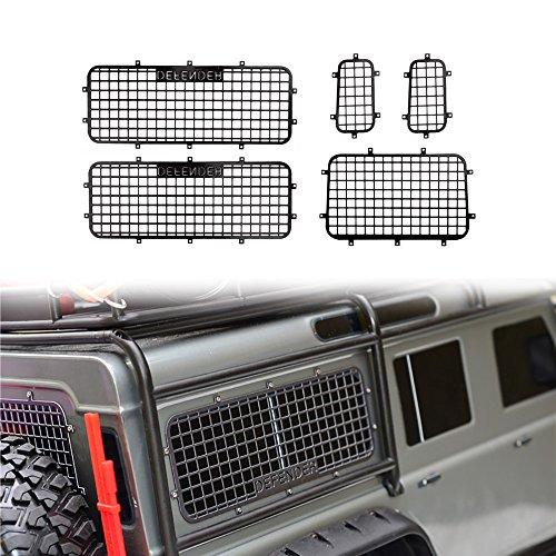 INJORA TRX4 Zubehör RC Fenster Netz Metall Fenstergitter Schutznetz mit Logo für 1/10 RC Crawler Auto Traxxas TRX-4 -