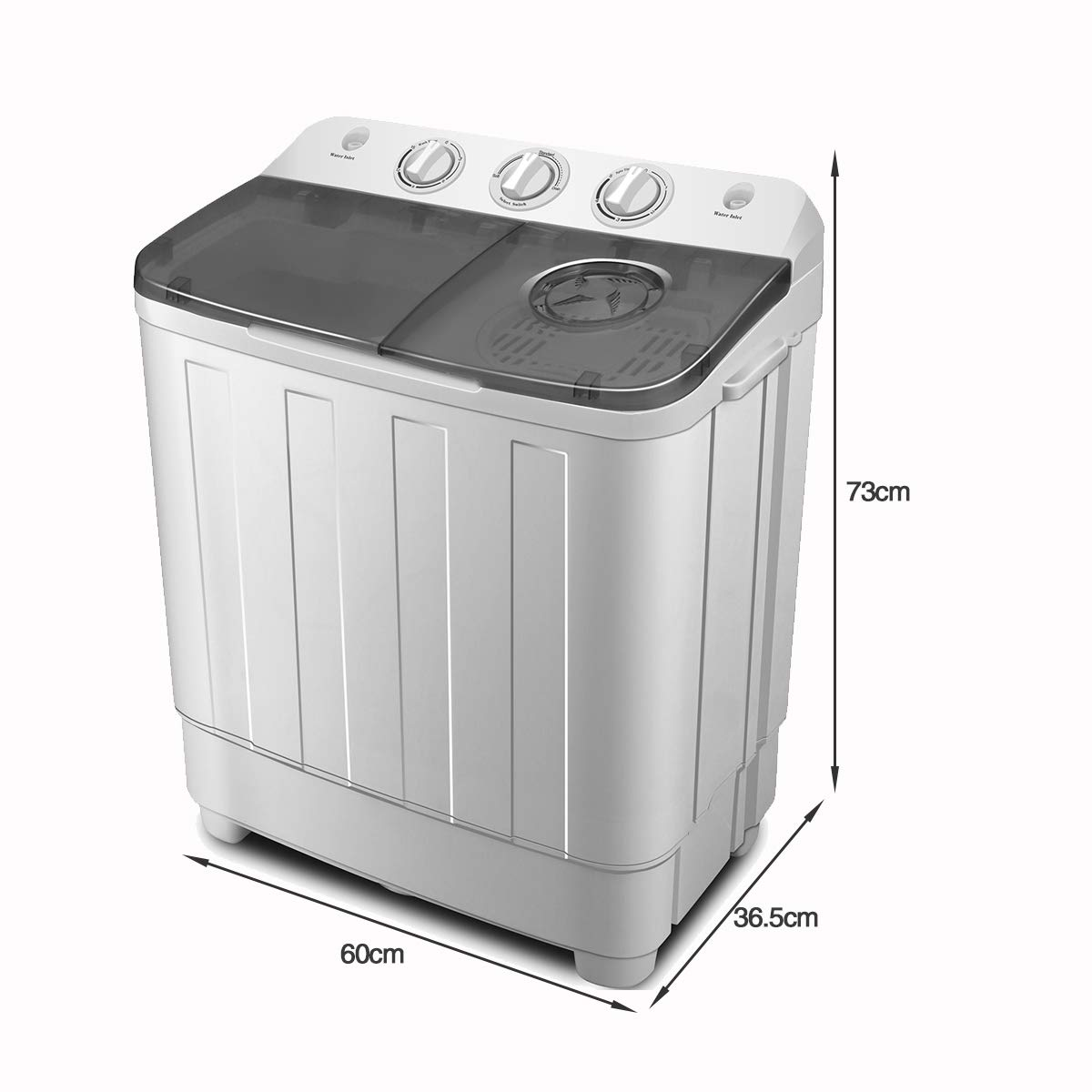 FitnessClub Portable Twin Tub Washing Machine 7. 6 KG Total