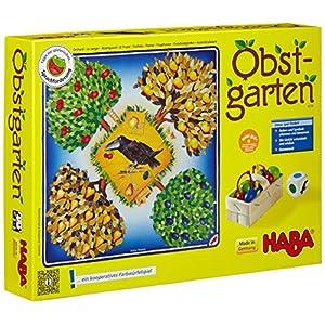 HABA 4170 Obstgarten – Juego de mesa con dados y frutas [Importado de Alemania]