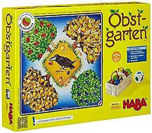 HABA 4170 Obstgarten - Juego de mesa con dados y frutas Importado de Alemania