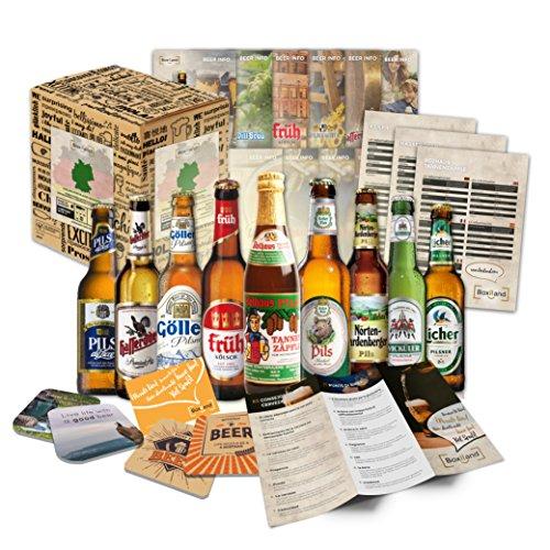 Deutsches Bier Probier-Set - Weihnachtsgeschenkidee für Männer, Weihnachtsgeschenk für Männer oder ausgefallene Geschenkideen für Männer
