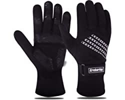 Grebarley Cycling Gloves, Anti-slip MTB Gloves, Warm Winter Gloves for Skiing, Cycling, Running and Driving, Water-resistant,
