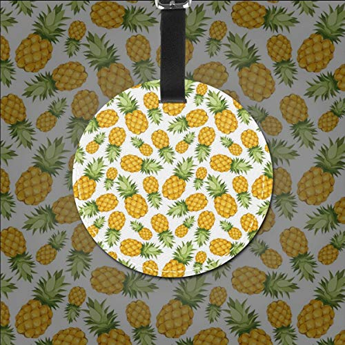 Zoom IMG-1 round travel luggage tags pineapples