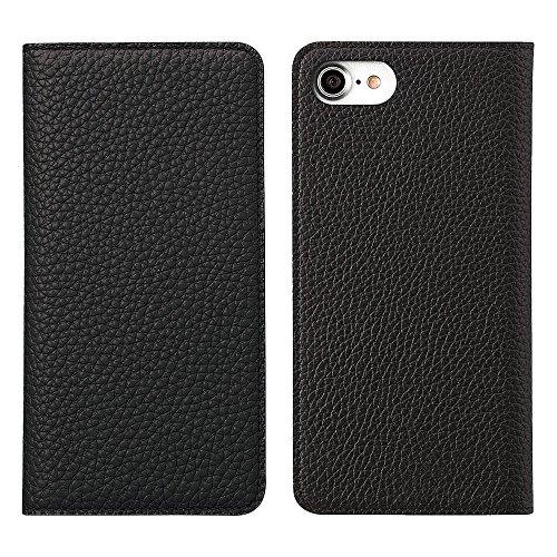 BONAVENTURA iPhone 8/7 Plus Custodia Portafoglio in Pelle (Prestigiosa Pelle Europea Pieno Fiore) con scomparti di carte | Luxury Leather Cover Case [iPhone 8/7 Plus | Nero e Rosso] Nero