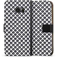 Samsung Galaxy S7 Edge Tasche Leder Flip Case Hülle Anker Muster Anchor Matrose