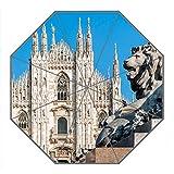 Kundenspezifischer faltbarer Umbrella Diy personifizierter Mailand Architektur Entwurfs-beweglicher Reise-Regenschirm f¨¹r Sonne und Regen