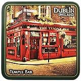 """Irland-Untersetzer mit der berühmten Dubliner Kneipe """"Temple Bar"""", bekannt für ihren Whiskey"""