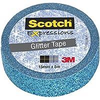 Scotch 96319 Expressions Nastro Decorativo, Blu Glitter