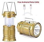 BLUTECH Led Solar Emergency Light Lantern, High Light Torch, USB Mobile Charger, 3 Power Source Solar, Lithium Battery...