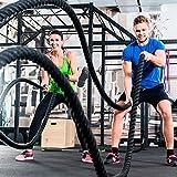 Fitness Tau Battle Rope 9 m lang 38 mm ∅