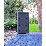 1schöner-wohnen24Modelo No. 1antracita gris para cubos de basura 240Litros/Resistente a la intemperie con revestimiento de polvo/con Tapa y puerta delantera