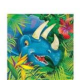 starbakery Tisch Dekoration Servietten Dinosaurier Geburtstag 16 Stück, 33x33 cm, Mehrfarbig