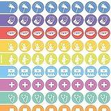 3 Stck. Organizer-Aufkleber für Wochenplaner, Wandplaner und Notizbücher mit Icons für jeden Anlass (Freizeit u. Termine)