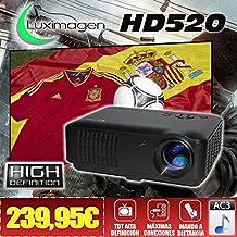 proyector barato Luximagen HD520 con TDT, USB, HDMI, VGA, AC3, resolucion real HD, 2 años de garantía