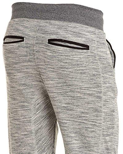 Deeluxe 74 - Pantalon jogging gris clair chiné Gris