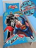 Die besten DC Comics Beddings - DC Batman Superman Einzelbettgröße Vorhänge 137,2cm 182,9cm, Steppdecke Bewertungen