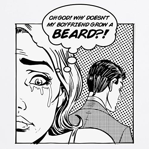 Boyfriend Beard T-Shirt, Damen Wei