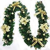 Cozywind Künstliche Weihnachtsgirlande Tannengirlande Dekogirlande 2.7m Outdoor Weihnachtsdeko Türgirlande,Hausgarten Hochzeitsfest Dekorationen