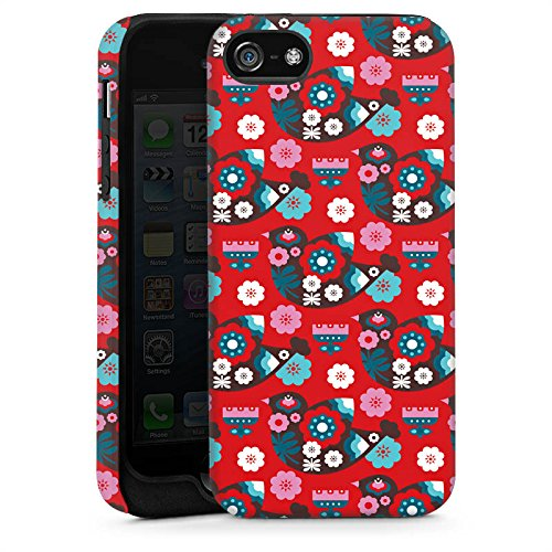 Apple iPhone 6 Housse Étui Silicone Coque Protection Oiseau Fleurs Fleurs Cas Tough brillant