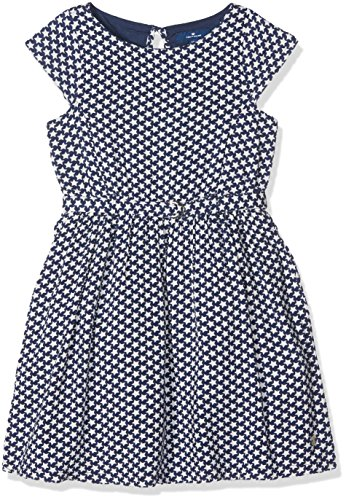 TOM TAILOR Kids Mädchen Kleid Cute Dress with Stars Blau (Agate Stone Blue 6519), 122 (Dress Star Print)