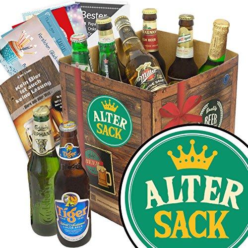 Alter Sack   Bierbox mit Bier aus aller Welt   Geschenkideen
