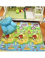 Zofey Play mat Baby mats Waterproof Double Side Big Soft (6 Feet X 5 Feet) Crawl Floor Matt for Kids Picnic School Home Large Size with Zip Bag to Carry
