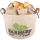 Esschert Design Farmers' Pride Kartoffeltasche, Jute, beige 34 x 24 x 23 cm