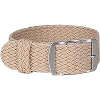 LLMXFC 16mm 18mm 20mm 22mm Solid color Perlon Woven Nylon watchbands bracelet fabric Woven Watch Strap Band Buckle belt…