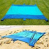 Bezzee Picknickdecken Schnelltrocknende Fallschirm Nylon Stranddecke