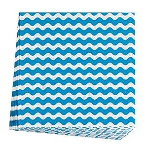 Neviti 678047Carnaval servilleta, olas azul