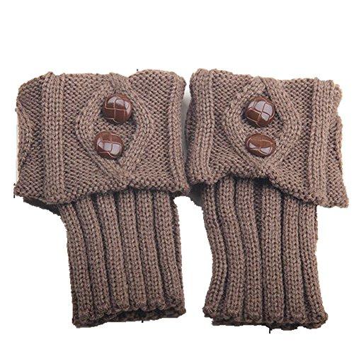 fanhappygo Fashion Winter warm wolle stricken Damen Legwarmers Stulpen socken Weihnachtsgeschenke Kurzer Abschnitt zwei Tasten Stil (Stulpen 80 Trachten)