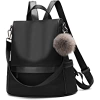 Women Daypack Backpack Lightweight Stylish Purse Waterproof Nylon or PU Leather Fashion Shoulder Bag Anti-theft Travel Daypack Rucksack