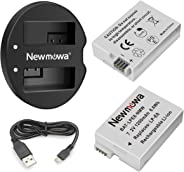 Newmowa LP-E8 Replacement Battery (2 Pack) and Dual USB Charger for Canon LP-E8 and Canon EOS Rebel T2i, EOS Rebel T3i, EOS