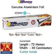 Hindalco Freshwrapp Aluminium Foil Genuine & Eco-Friendly- Length 72 Meters - Width- 30cm Guaranteed - Weight 821gm MRP 357