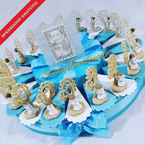 Torta per prima comunione con albero della vita e bambino con centrale carlo pignatelli spedizione inclusa (torta da 20 fette)