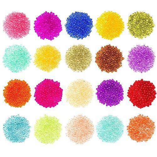 Perlen-Set mit 4000 bunten Perlen, Ø 4 mm, 4000 Stück, 20 verschiedene Farben | perfekt geeignet zum Auffädeln, für Armbänder, für Kinder, zum Basteln