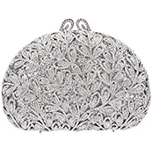 Bonjanvye Studded Leaves Clutch Purses for Girls Evening Bags for Party Dressing