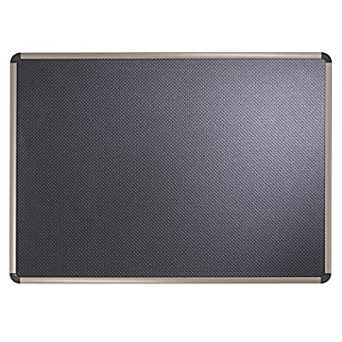 Quartet Prestige Euro Black Embossed Foam Bulletin Board, 18 x