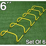 Set Of 6 FXR Sports Speed Agility Hurdles - 3 Different Sizes Available - Hurdle Football Athletics (6' x 6 Hurdles)