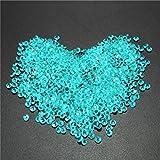 ungfu Mall 1000pcs Tabla de 4.5mm Cristal Diamante Acrílico cristales diamantes boda Decoración, acrílico, azul