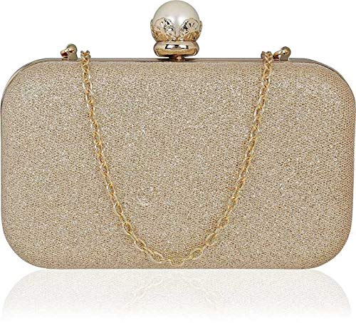 Tooba Women's Clutch (Gold)