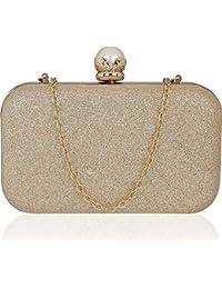 6495ecc34a Tooba Handicraft Party Wear Beautiful Bling Pearl Box Clutch Bag Purse For  Bridal
