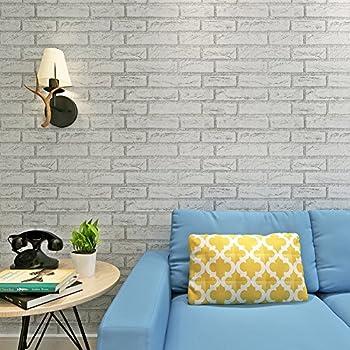 Hanmero papier peint adh sif autocollant 2m motif de brique vinyle pvc pour - Papier adhesif pour meuble de cuisine ...