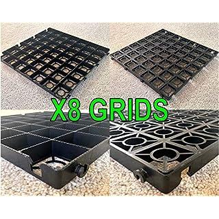 DRIVEWAY GRIDS X8 = 2 SQUARE METRE OF GRAVEL GRIDS + HEAVY DUTY WOVEN MEMBRANE GRAVEL GRIDS GRASS GRID PLASTIC STABILITY GRIDS ECO PAVING BASES & PARKING DRIVE WAY GRID POROUS GRASS OR GRAVEL GRIDS