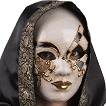 Carnival Toys 671 Máscara veneciana decorada con purpurina, multicolor, talla única
