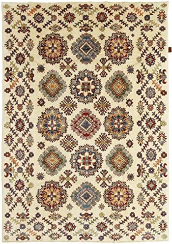 Nain Trading Kazak Limited 239x168 Annodato a Mano Tappeto Orientale Afghanistan Beige Marronee Scuro Afghanistan Orientale e61ad7