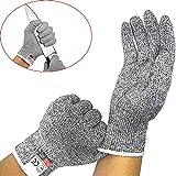NewTsie Cut Resistant Handschuhe - Food Grade und Level 5 Cut Protection, Sicherheit Küche und Outdoor Cut Handschuhe (Medium)